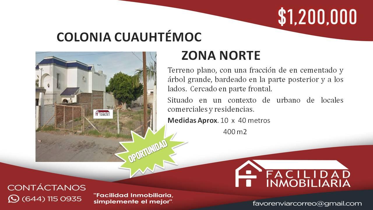 Terreno en Venta, Colonia Urbanizable No.6 Cuauhtémoc
