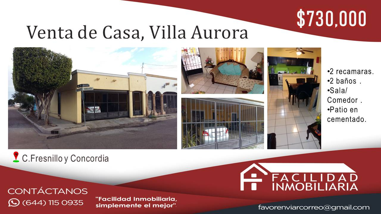 Casa en Venta, Villa Aurora