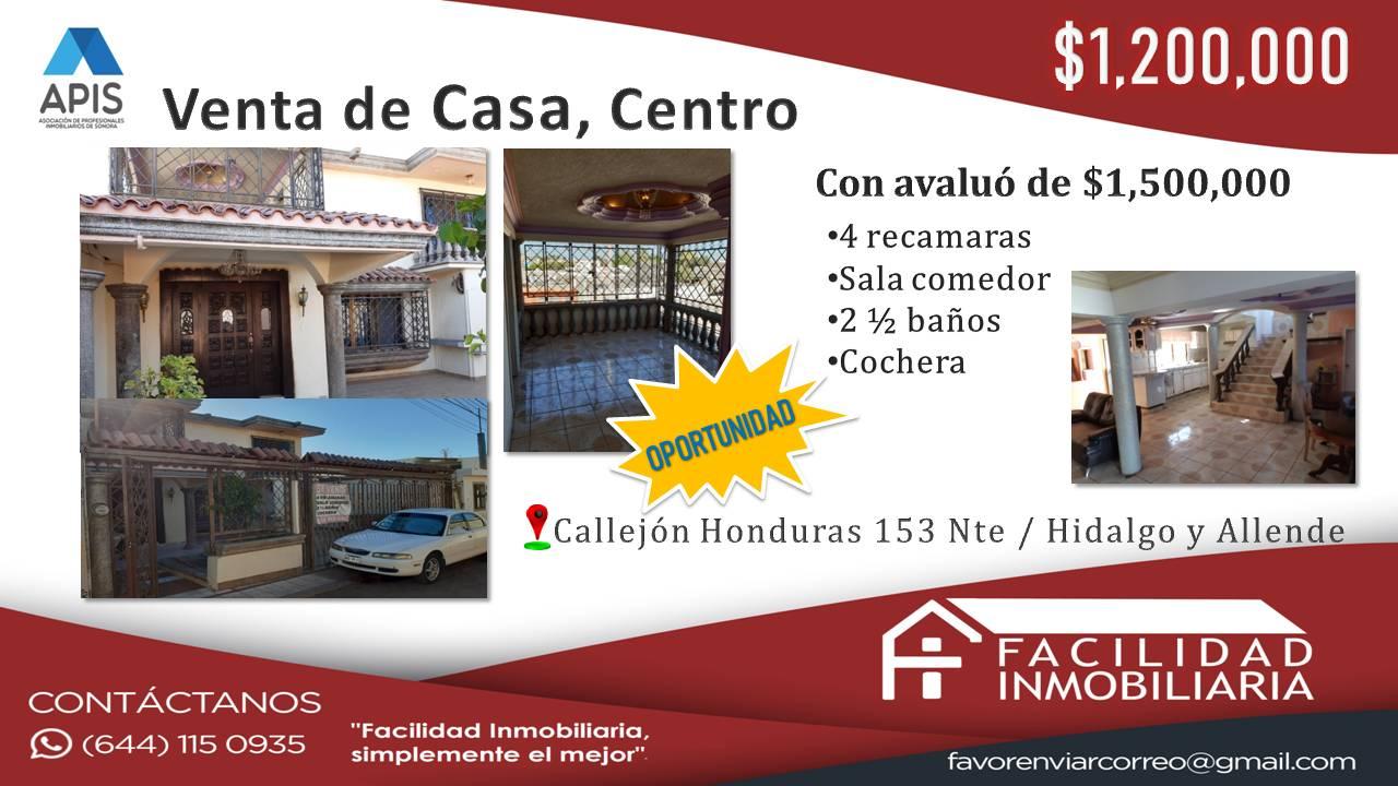 Venta de Casa, Centro