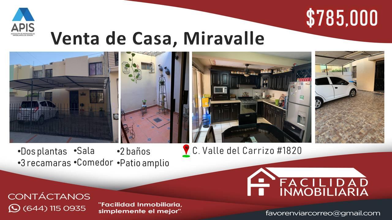 Casa en Venta, Miravalle