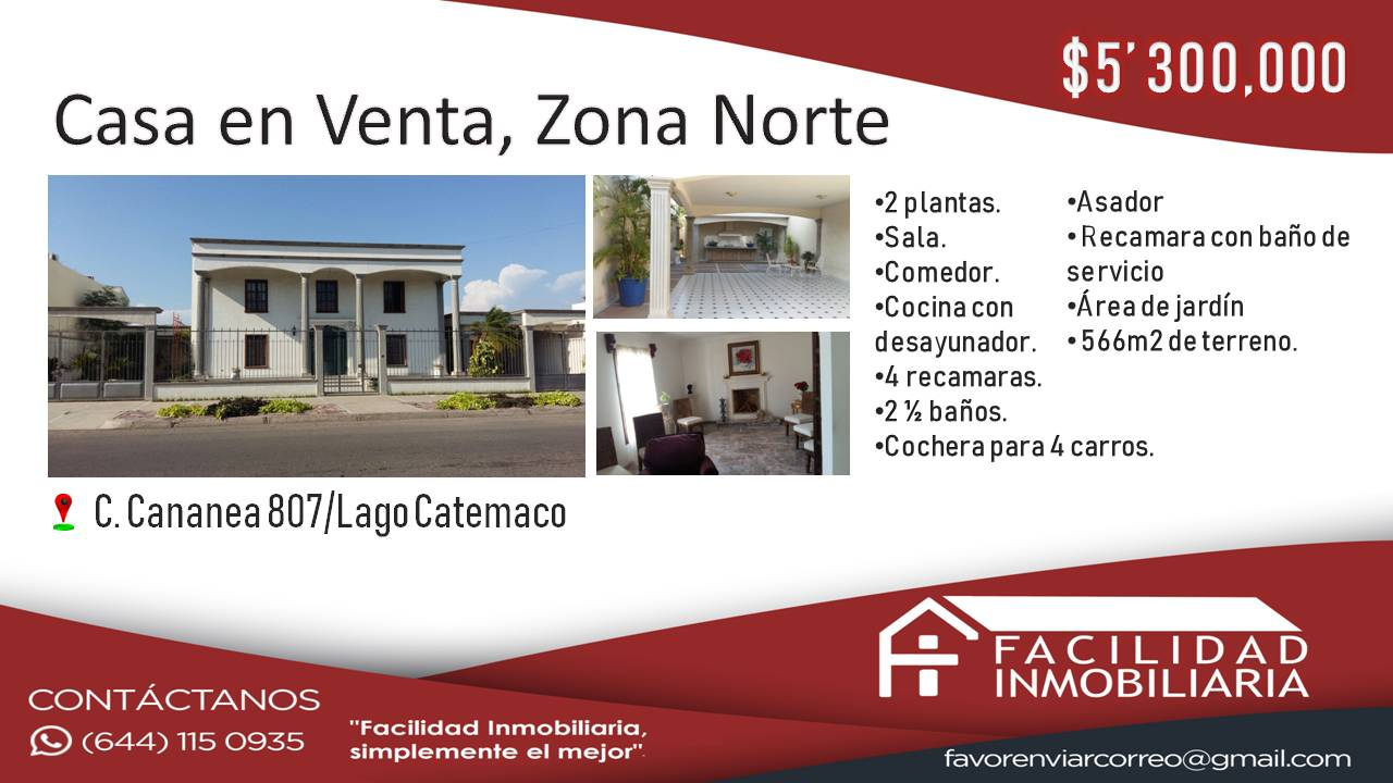 Casa en Renta/Venta Zona Norte