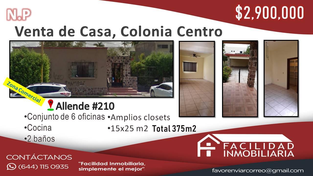 Casa en Venta, Centro