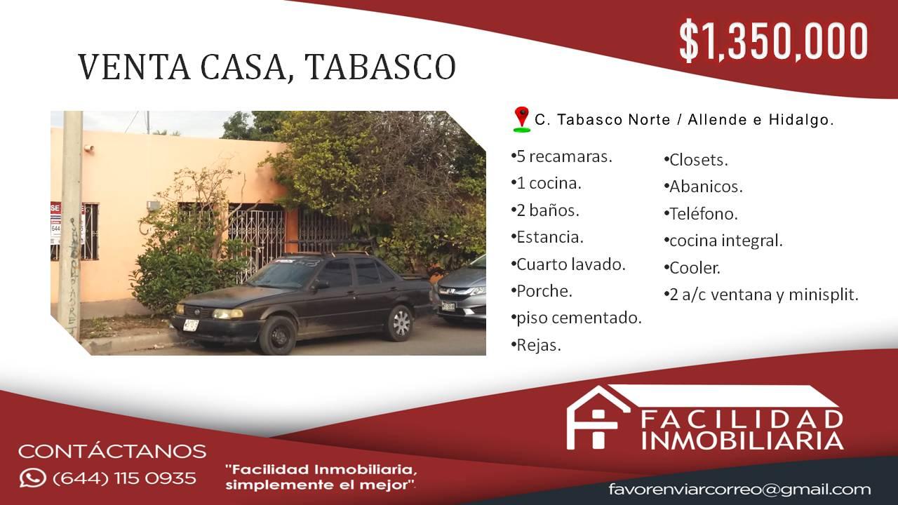Casa en Venta, Tabasco