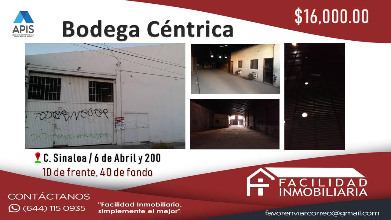Renta de Bodega Centrica $16,000