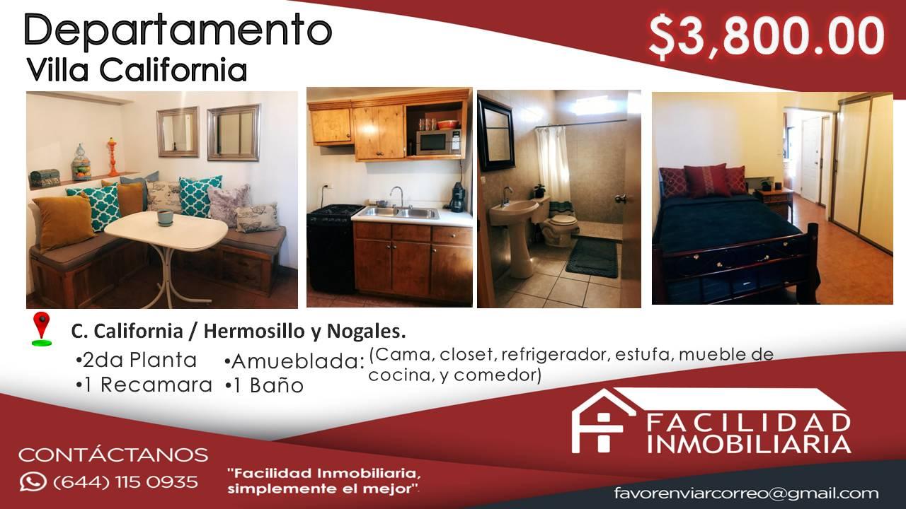 Departamento. Villa California. $3800