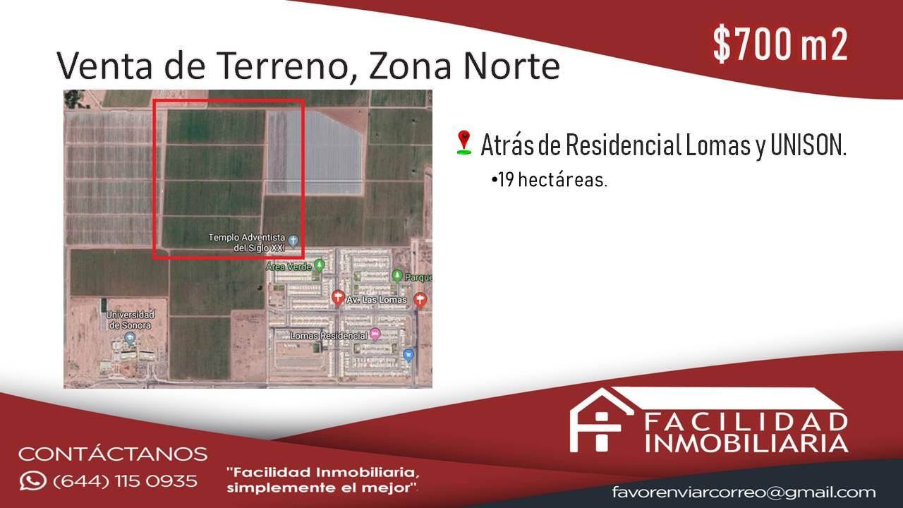 Venta de Terreno, Zona Norte $700m2