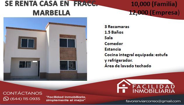 SE RENTA BONITA CASA EN MUY BUENAS CONDICIONES  $10,000 (familia) 12,000(empresa)