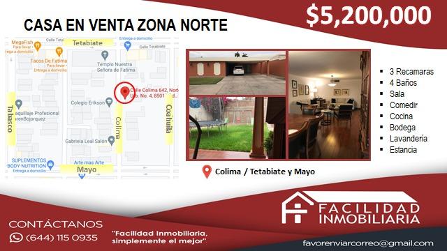 CASA EN VENTA EN ZONA NORTE $5,200,000
